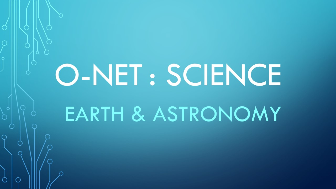 O-NET Earth&Astronomy